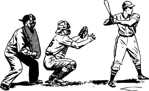 Baseball game clipart.