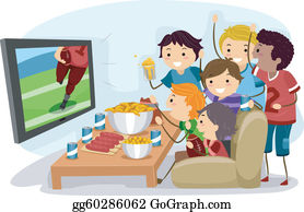 Watching Tv Clip Art.