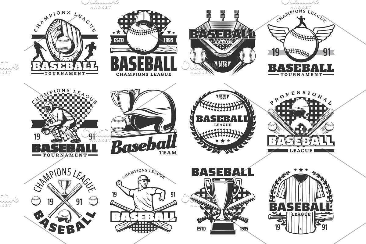 Softball or baseball sport items.