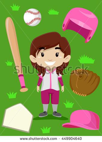 Baseball Girl Stock Images, Royalty.