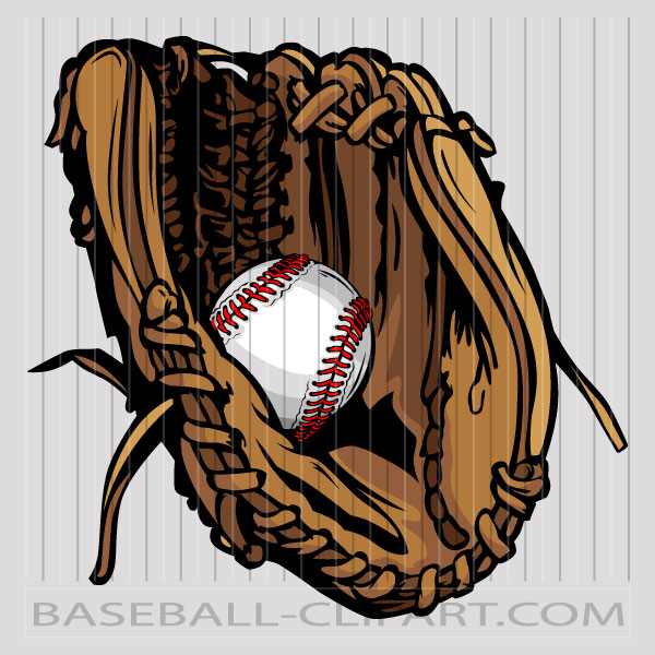 Vector Baseball Glove Image. Easy to Edit Vector Format..
