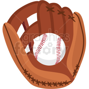 baseball and glove vector clipart no background . Royalty.