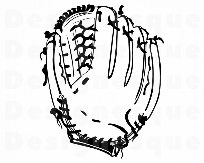 Baseball Glove #2 SVG, Mitt Svg, Baseball Glove Clipart, Baseball Glove  Files for Cricut, Baseball Glove Cut Files For Silhouette, Dxf, Png.