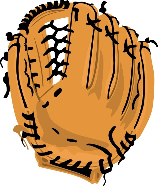 Baseball Glove clip art Free vector in Open office drawing svg.