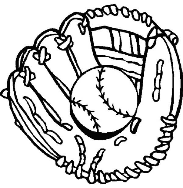 Drawings of baseball gloves clipart.