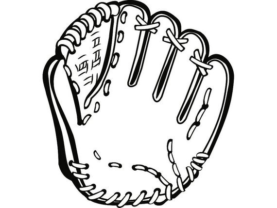 Baseball glove clipart black and white 4 » Clipart Portal.