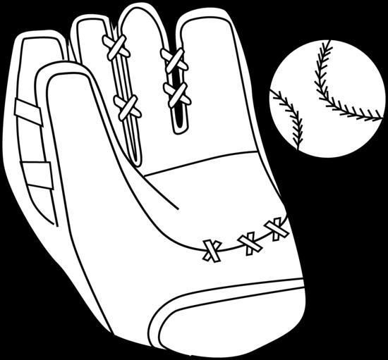 Baseball glove white glove clipart.