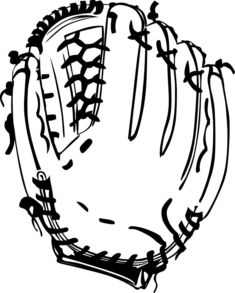 Baseball Glove Clipart Black And White.