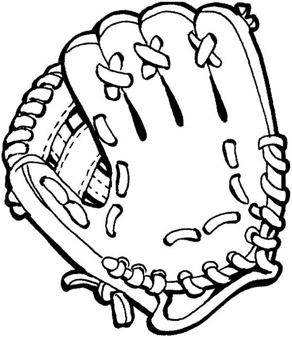 445 Baseball Glove free clipart.