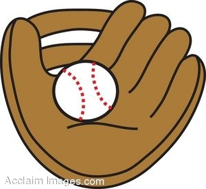 Baseball Glove And Ball Clipart.