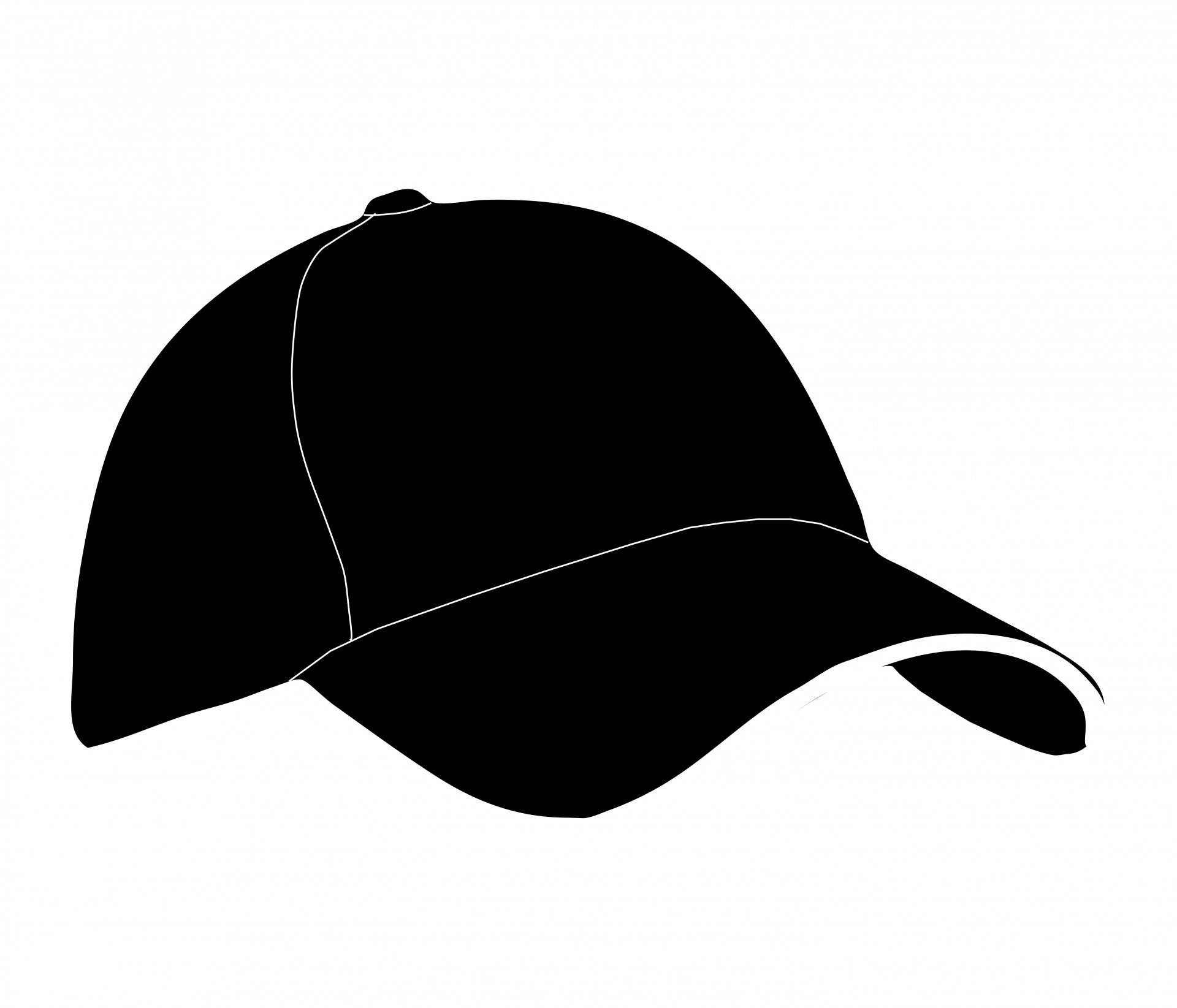 Free Baseball Hat Clipart Black And White, Download Free.
