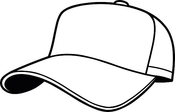 Hat Clipart Black And White Baseball Cap Clipart Custom.