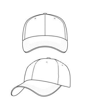 Baseball Hat Template.