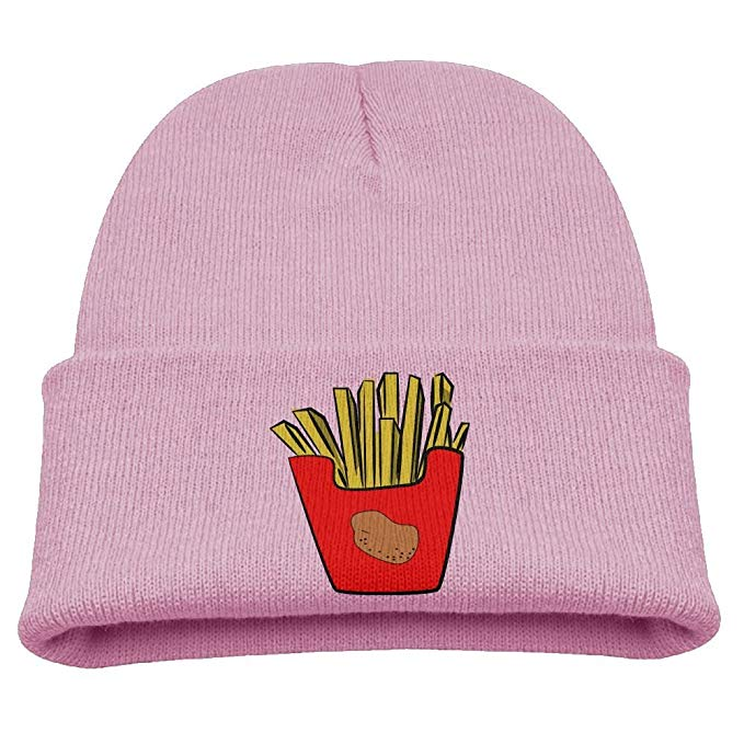 Amazon.com: French Fries Clipart Kid Knit Beanies Hats For.