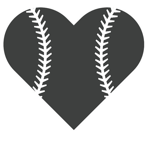 Baseball Heart File for Cutting Machines by CoralCharmBoutique.