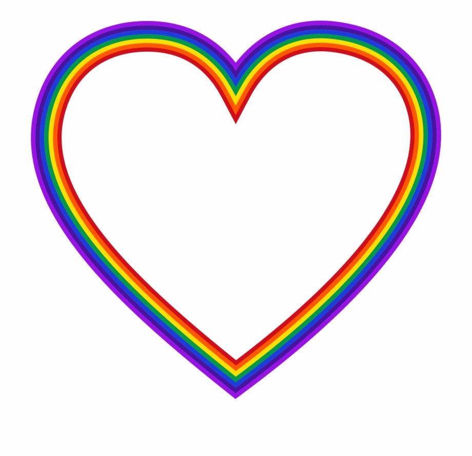 Rainbow Heart Transparent.