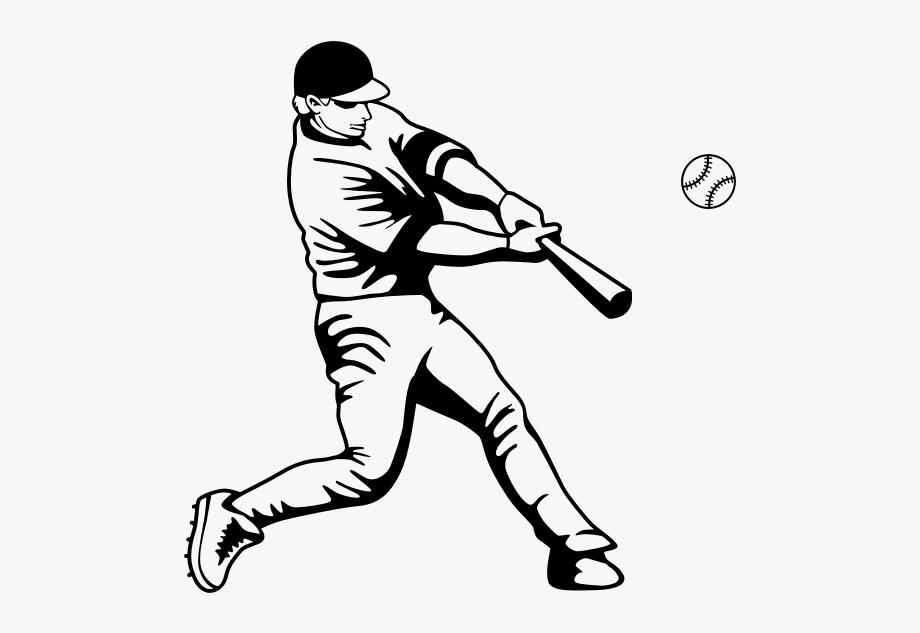 28 Collection Of Baseball Hit Drawing.