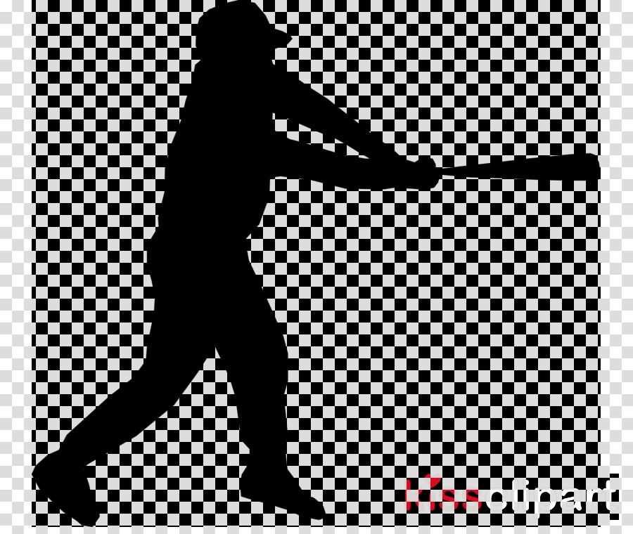 silhouette solid swing+hit standing baseball bat baseball.