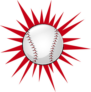 Baseball hit clipart.