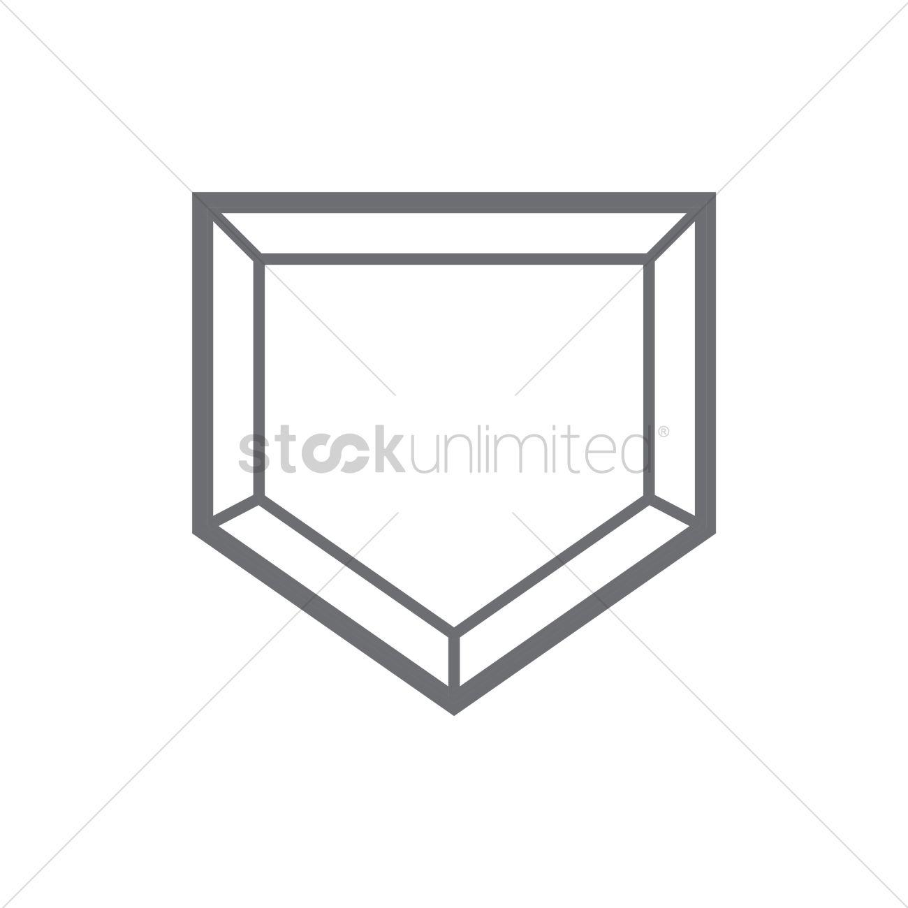 Baseball home plate Vector Image.