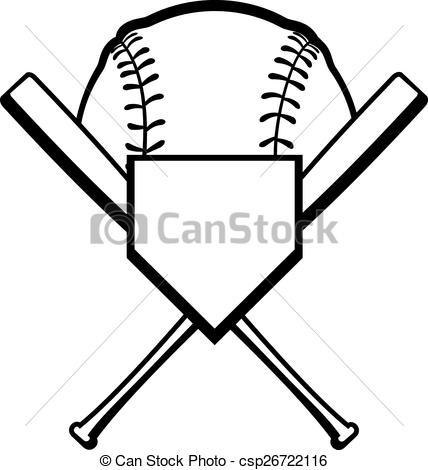 Baseball Plate Clipart.
