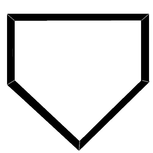 Free Home Plate Silhouette, Download Free Clip Art, Free.