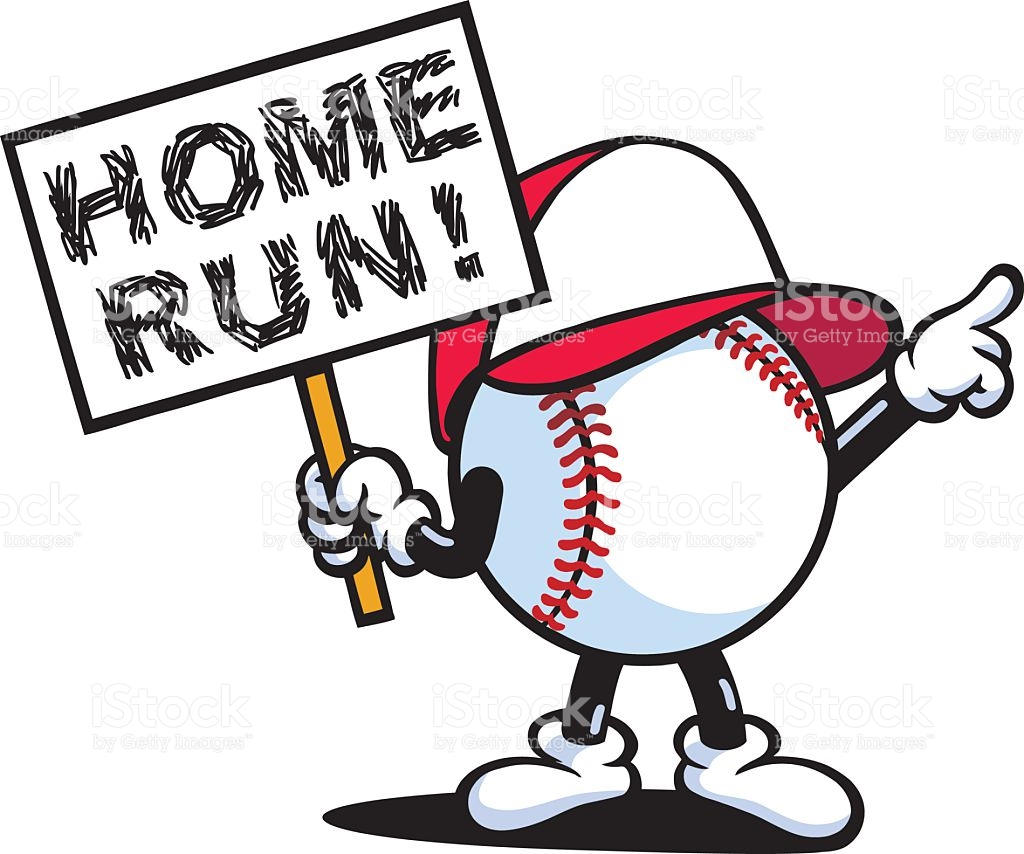 Home Run Clipart.