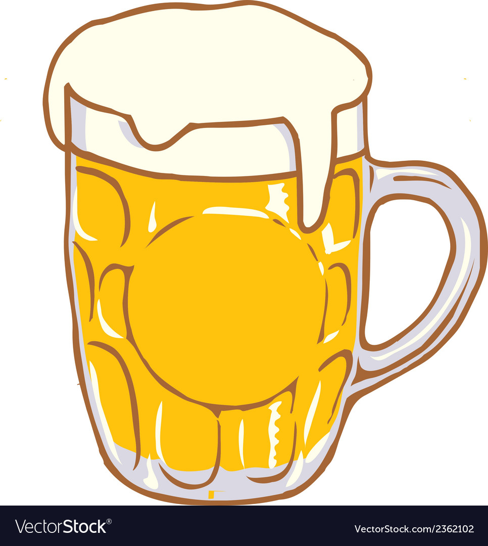Beer Mug Pint Clipart Design D.