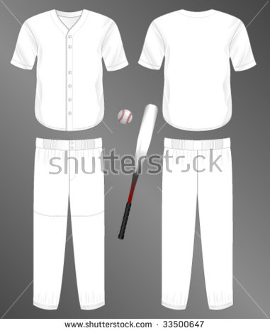 Baseball Uniform Template Vector Free.