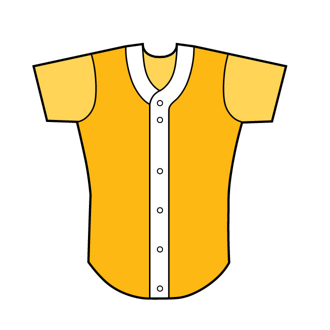 Baseball shirt front view vector image.