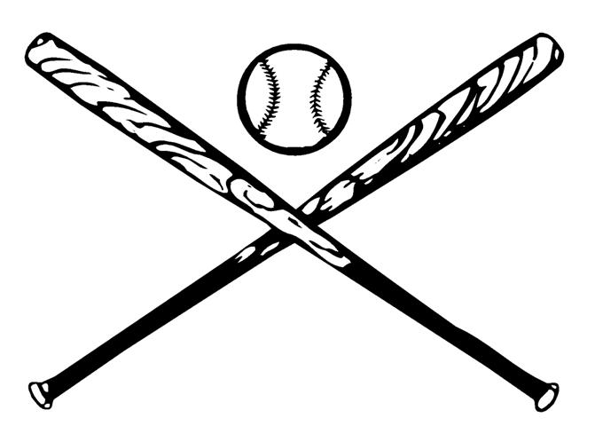 Baseball Bat Clipart Black And White.