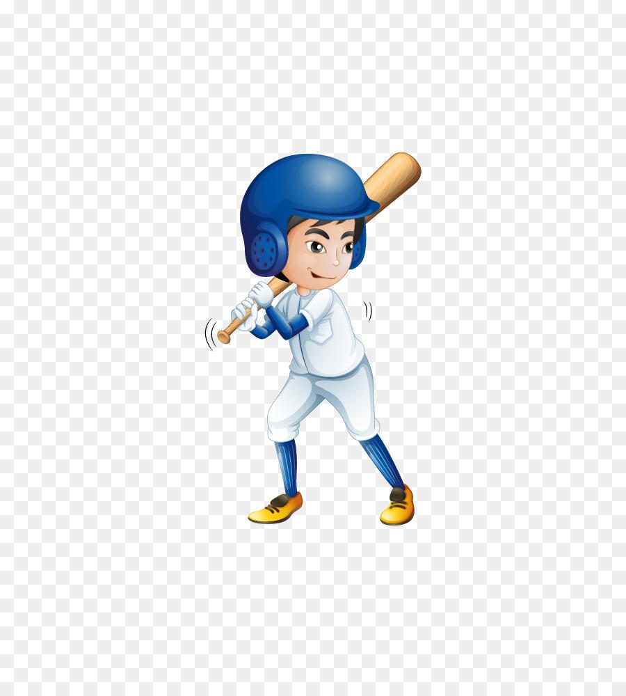 Boy Playing Baseball Clipart.