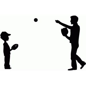 I love to throw the ball with my dad whether it is football.