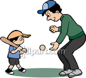 Father And Son Playing Clipart.