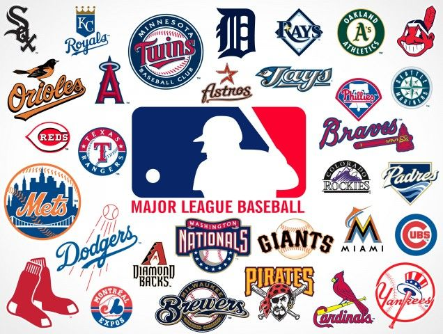 major league baseball logo.