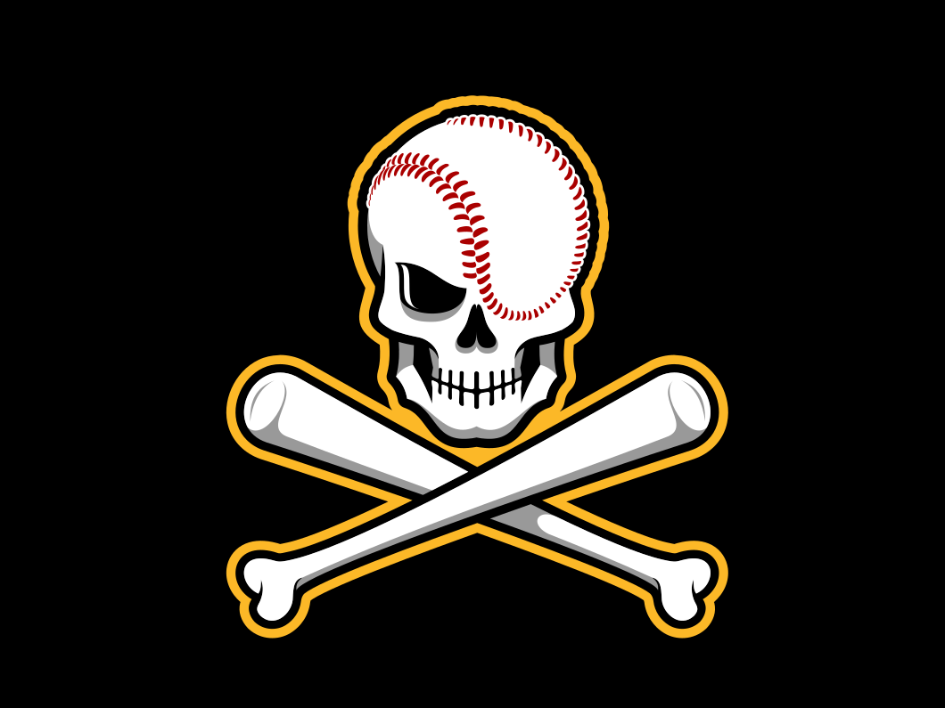 Skull & Crossbones Baseball Logo by Paul Leicht on Dribbble.