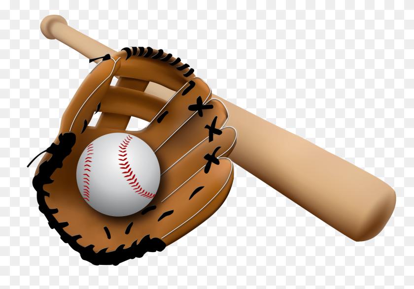 Bat Clipart Baseball Mitt.
