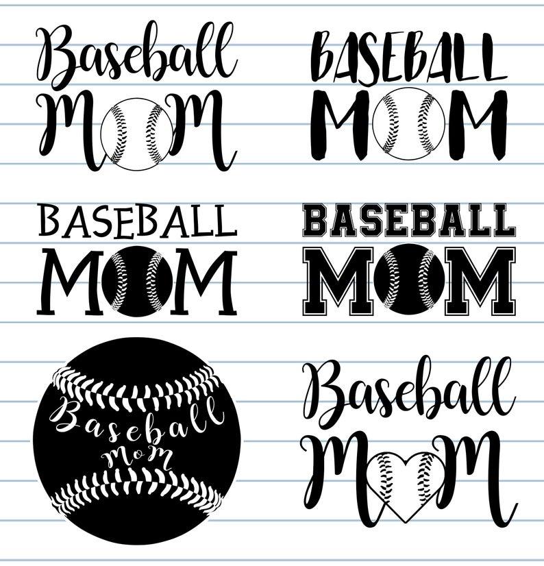 Baseball Mom SVG.