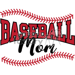 baseball mom svg cut file clipart. Royalty.