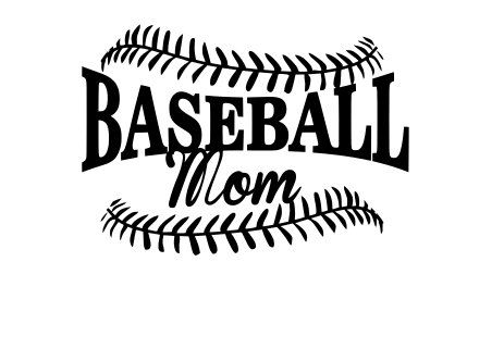 Baseball Mom SVG File. For Silhouette or by NamasteHandMade.