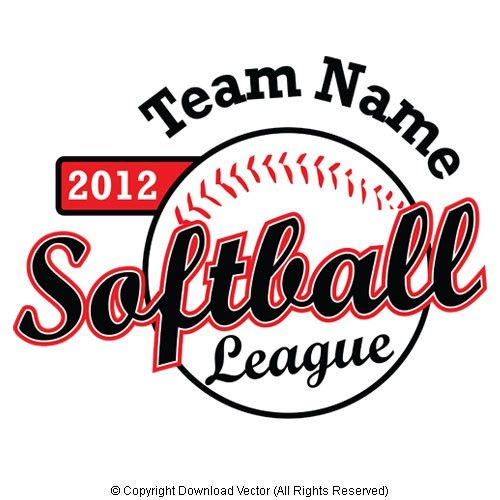Softball Vector t shirt clip art EPS.