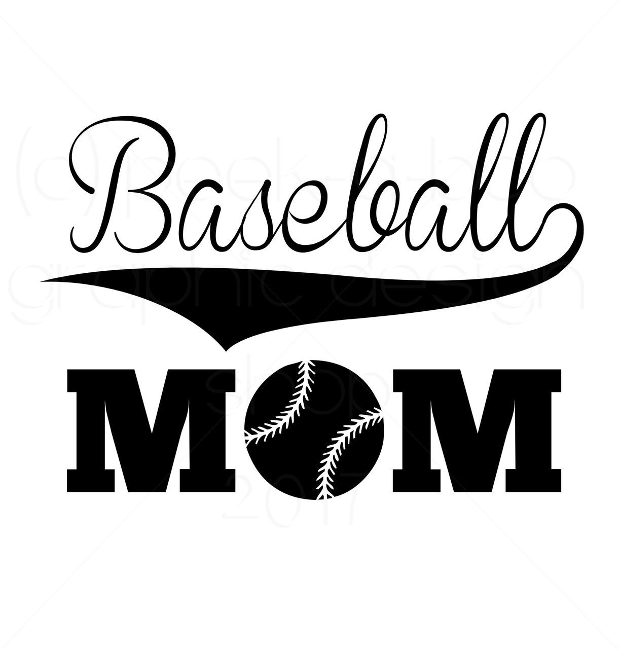 Baseball Mom Digital Cut File.