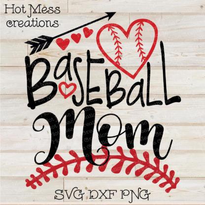 Baseball Mom SVG DXF EPS PNG Baseball Design.