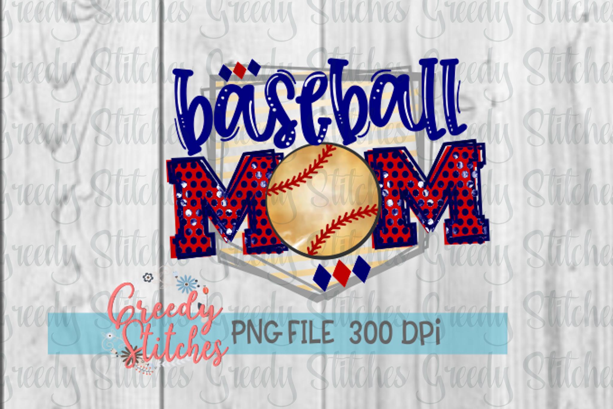 Baseball Mom PNG.