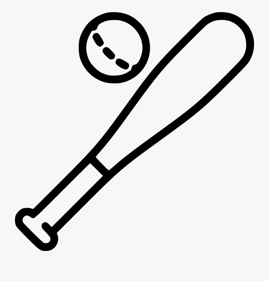 Transparent Baseball Bat And Ball Png.