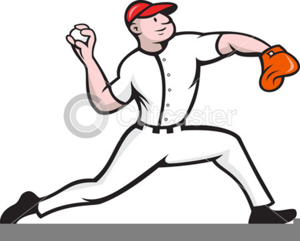 Free Clipart Baseball Pitcher.