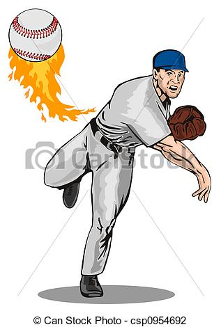 Major league baseball pitcher Illustrations and Stock Art. 319 Major.