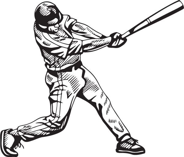 Baseball Player Batting Board Picture Frames Clipart #1.