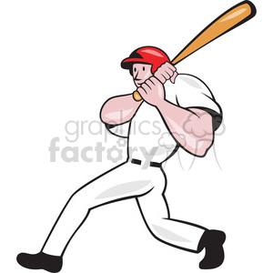 baseball player batting follow thru clipart. Royalty.