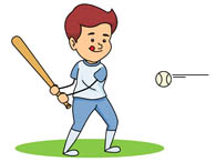 Baseball player clipart #14